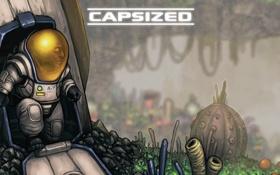 Обои yellow, helmet, astronaut, capsized game