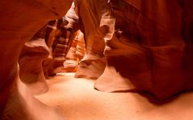 Картинка песок, природа, скалы, текстура, США, каньон Антилопы