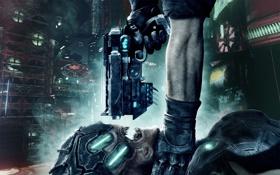Обои оружие, инопланетянин, перчатка, Prey 2