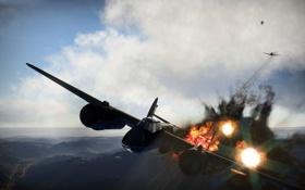 Картинка авиация, игры, воздушный бой, war thunder