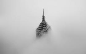 Обои туман, Китай, Шанхай, Jin Mao Tower