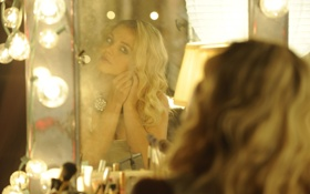 Обои певица, лампочки, Britney Spears, девушка, Бритни Спирс, зеркало