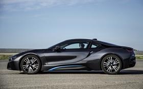 Картинка BMW, future, black, road, sky, 2014
