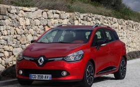 Картинка car, машина, Renault, red, передок, Clio Estate