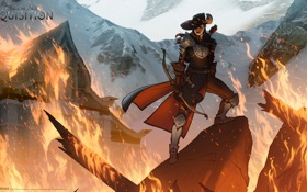 Картинка огонь, chaos, лучник, Dragon Age: Inquisition