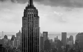Обои empire state, Building, Эмпайр стейт билдинг, небоскреб