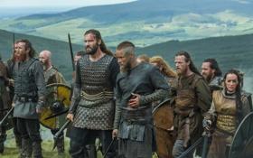 Обои воины, Vikings, Викинги, Трэвис Фиммел, Clive Standen