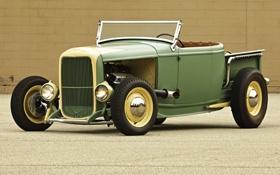 Обои Roadster, Ford, Форд, Пикап, 1932, Pickup, Родстер