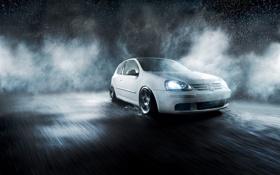 Картинка капли, брызги, туман, дождь, Volkswagen, cars, auto