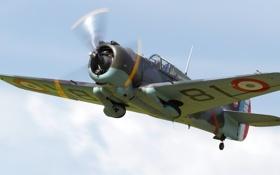 Обои бомбардировщик, Curtiss, палубный, пикирующий, Helldiver, SB2C