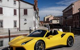 Обои Ferrari, кабриолет, феррари, спайдер, Spider, 488