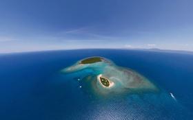 Картинка океан, Австралия, Большой Барьерный риф