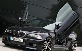 Картинка car, bmw, black, auto, tuning, kneibler