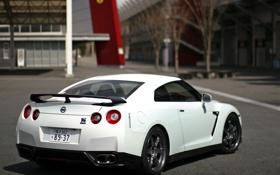 Картинка Белый, Япония, Ниссан, Japan, Nissan, GT-R, Car