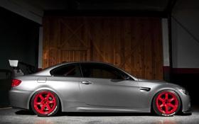 Обои silvery, бмв, BMW, E92, серебристый, IND, GTS