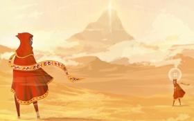 Обои горы, пустыня, путешествие, journey