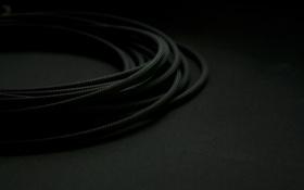 Картинка минимализм, черный фон, шнур, 1920х1200, minimal walls, Black color