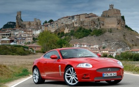 Обои car, машина, город, обои, гора, Jaguar, деревня