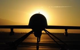 Обои закат, Predator, многоцелевой, беспилотный, аппарат, MQ-1, летательный