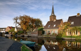 Обои город, Голландия, Abcoude
