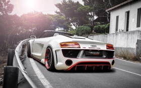 Обои авто, Audi, тюнинг, Spyder, задок, V10, Regula