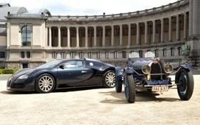 Картинка здание, Bugatti, колонны, Veyron, бугатти, and, вейрон