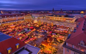 Обои Германия, Дрезден, christmas, germany, dresden, Striezelmarkt