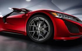 Картинка колесо, диск, Honda, хонда, акура, Acura, NSX