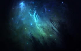 Обои космос, звёзды, арт, Aurelius