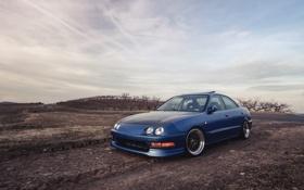 Обои небо, синий, седан, blue, Sedan, акура, Acura