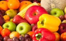 Обои ягоды, фрукты, овощи, fresh, fruits, berries
