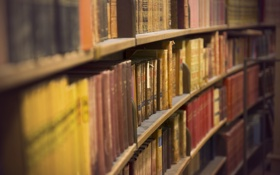 Обои books, library, shelves