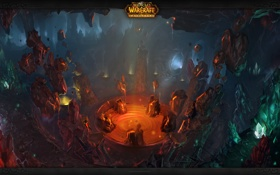 Обои wow, пещера, World of warcraft