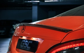Обои GSC, German Special Customs, логотип, авто, мерседес, стоп-огни, CLS 63