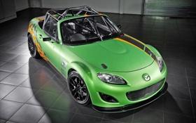Обои tuning, Mazda, MX-5, зеленая, спорт
