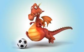 Обои дракон, dragon, funny