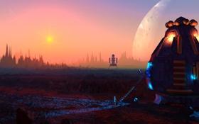Картинка планеты, марс, колония, освоение