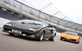 Обои Lamborghini, Gallardo, передок, суперкары, Countach