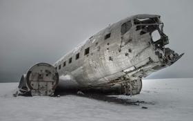 Обои зима, авиация, самолёт