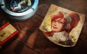Обои фото, пачка, starcraft 2, сигареты, Сара Кэрриган