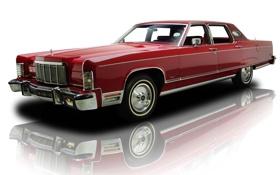Обои Lincoln, красный, отражение, фон, Continental, Континенталь, седан