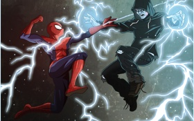 Картинка Electro, Marvel Comics, Spider-Man, The Amazing Spider-Man 2