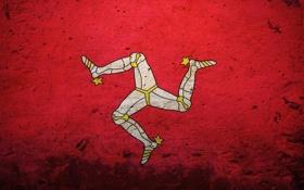 Обои Великобритания, эмблема, Англия, трискелион, Коронное владение Британской короны, остров Мэн, герб