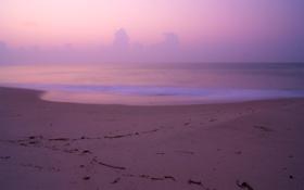 Картинка песок, море, пляж, небо, вода, облака, пейзаж
