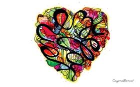 Обои Сердце, сердечко, из цветов