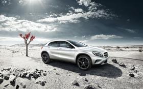 Картинка пустыня, Mercedes-Benz, 4MATIC, X156, GLA Edition