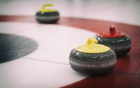 Обои Curling, ice, rocks, sport