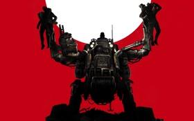 Обои оружие, люди, робот, свастика, захват, немец, Bethesda Softworks