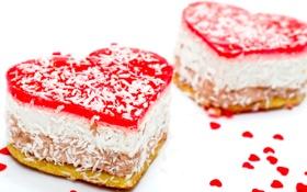 Картинка любовь, праздник, сердце, еда, торт, love, пирожное