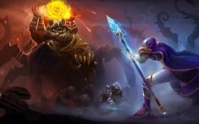 Картинка warcraft, heroes of the storm, Azmodan, jaina proudmoore
